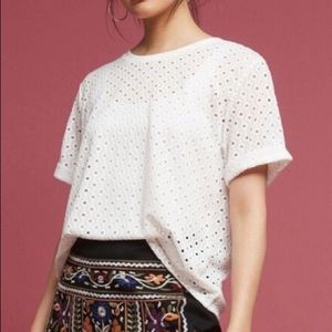Anthropologie Postmark Chantal Lace Top!